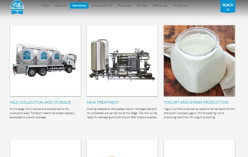 Milk Processing Line Website